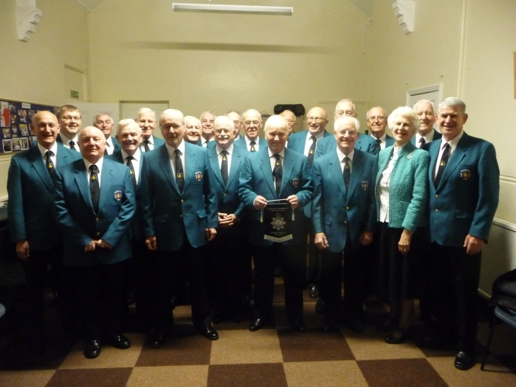 The Derbyshire Constabulary Male Voice Choir have just celebrated their 60th Anniversary and as a mark of our Choral friendships made at the Help for Heroes Massed Choirs and Band Concert on November 7th 2015 at Kendal they presented a pennant to each participating choir and band.